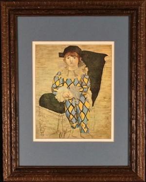 Pablo Picasso Print: My Son as Harlequin
