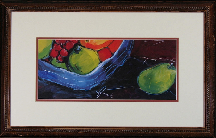 "Designer Lithograph: ""Bowl of Fresh Fruit"""