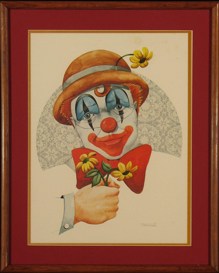 Tom Wood Print: Bowtie Clown